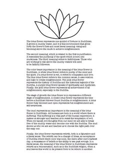 Lotus flower description. Read all the way through. Color meaning, an awesome point to touch on.