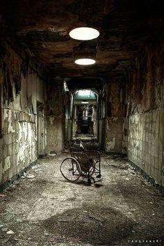 Abandoned insane asylum. This is not somewhere you'd necessarily want to spend a night in. Actually, this isn't somewhere you'd like to spend the day in either. Just don't go there… ever.