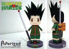 PAPERMAU: Hunter x Hunter - Gon Freecss Paper Toy - by Paperized