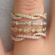Pledge your everlasting love with delicate diamonds set in yellow, rose, and white gold! Available at TWO by LONDON Americana Manhasset