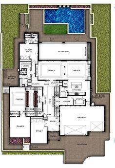 Two Storey, split level, House Plans Perth | View plans of this amazing split level two storey home by Boyd Design Perth | Two Storey Home Designers Perth, Western Australia
