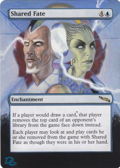 Altered MTG Shared Fate by DG www.squidoo.com/magic-the-gathering-altered-art-cards #mtg #magic #magicthegathering #alteredart