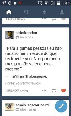 Poema e Versos: William Shakespeare -Trexos
