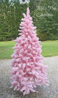 Did you know you can spray paint and flock a white Christmas tree to make it all pretty pink and fluffy! I will get better instructions and ...