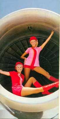 Pink & Red matchy matchy. In a jet engine!
