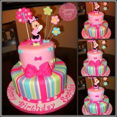 Minnie Bows Cake! - Minnie cake with a twist (bows) :)