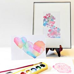 Even if you can't paint to save your life you can still create beautiful watercolors with a simple trick.