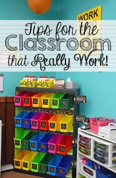 Classroom organization and tips for your classroom! You will find at least one great new idea here! School Organization Tips For Students 2nd Grade Classroom, New Classroom, Classroom Setting, Classroom Design, Preschool Classroom, In Kindergarten, Classroom Decor, Book Bags Classroom, Kindergarten Classroom Organization