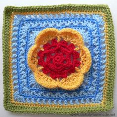 Block 12: Kaleidoscope Blossom {Photo Tutorial} ~ free pattern ᛡ blossom photo, crochet squares, kaleidoscop blossom