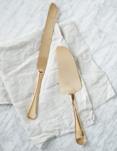 Gold Cake Cutting Set