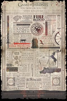 Game Of Thrones- Quotable Infographic Poster