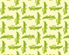 Peek-a-Zoo - Crocodiles - Buttercreme. From eQuilter.com