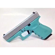 Omg.... yes please!!!!! Tiffany Blue and Silver Glock 19 Gen3.