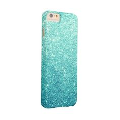 Elegant Teal Glitter Luxury Barely There Iphone 6 Plus Case (6.550 ISK) ❤ liked on Polyvore featuring accessories, tech accessories, phone cases and phones