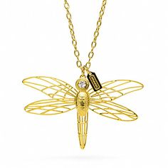 WIRE DRAGONFLY NECKLACE