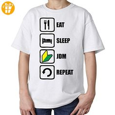 Eat Sleep Jdm Repeat Graphic Design Kids Unisex T Shirt XL 158-164 (cm) (*Partner-Link)