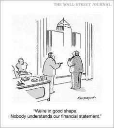 Financial statement humor