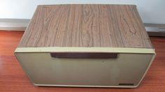 Bread Boxes, Contact Paper, Brown Wood, Vintage Kitchen, Wood Grain, 1970s, Harvest, Barware, Shelves