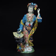 Find More Pottery & Enamel Information about Christmas Painted Porcelain Decoracion Art Collectible Hogar Lady Figurine Manual Home Decor Statue Ceramic Ornaments Craft ,High Quality crafts ornaments,China ornament swarovski Suppliers, Cheap craft scissor from Handicraftsman on Aliexpress.com