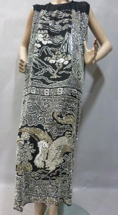 Evening dress ca 1924, attributed to Jean Patou.