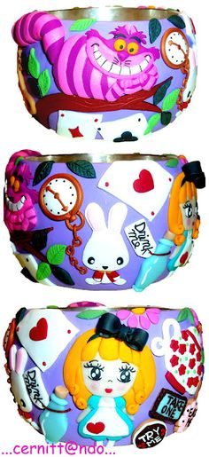 Alice in Wonderland bangle