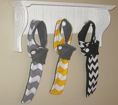 Children's Adorable Chevron Print Scarves.