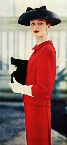 1950's fashion by arthur jablow - ladies home journal 1956