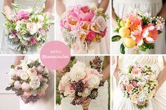 Brautstrauss Inspiration in Rosatönen ... diese und noch mehr