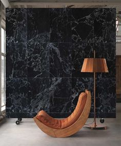 Black Marble Wallpaper by Piet Hein Eek and NLXL