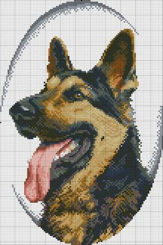 Pastor alemao I 1 Cross Stitch Bird, Beaded Cross Stitch, Cross Stitch Alphabet, Cross Stitch Animals, Cross Stitch Charts, Cross Stitch Designs, Cross Stitching, Cross Stitch Embroidery, Cross Stitch Patterns