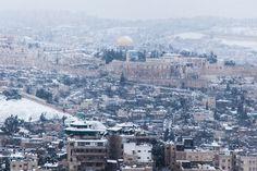 Jerusalem Snow Makes City Look Beautiful But Closes Roads And Schools