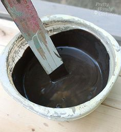Great post and glaze recipe for making new wood look old/aged. I can't wait to try this! From Pretty Handy Girl