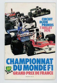 1974 Franse Grand prix Motor racing programma Dijon-Prenois Peterson Hill Oorspronkelijke 1974 Franse Grand prix programma alles in zeer goede staat en zeldzaam te vinden. Aprox grootte 22 cm x 16 cm. volledige deelnemerslijst en 64 pagina's. EUR 1.00 Meer informatie