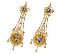 Scarce 18th C. Napoleonic Earrings