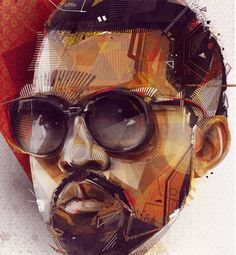 This is a great illustration. You can clearly tell who this is portraying. That is Kanye West.