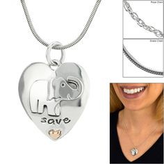 Save the Elephants Sterling Necklace at The Rainforest Site
