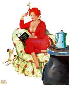 Wall Art Print- Art Reproduction Vintage Sexy Pin-up Girl Vintage Sexy Plus-size Pin-up Girl Duane Bryers Hilda Print 8 x Plus Size Vintage, Pin Up Girl Vintage, Images Vintage, Art Vintage, Retro Art, Pinup Art, Sexy Pin Up Girls, Calendar Girls, Burlesque