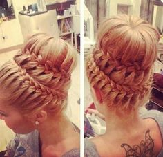 This is the prettiest hair I have ever seen! Somebody needs to make this happen on my head or I need to learn how to do it myself.... So incredibly gorgeous!