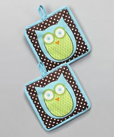 Look what I found on #zulily! Hoot Stuff Pot Holder - Set of Two #zulilyfinds