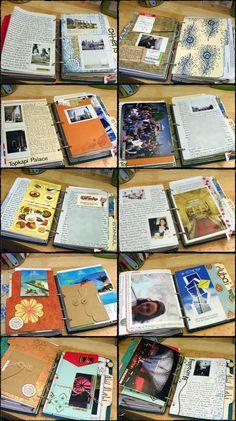 SBOR Inside After 2 journal Scrapbook on the Road Junk Journal, Photo Journal, Art Journal Pages, Journal Covers, Journal Layout, Journal Cards, Journal Ideas, Travel Journal Scrapbook, Scrapbook Pages