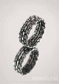 Unisex ring I  industrial massive blackened sterling by IMNIUM, $74.99