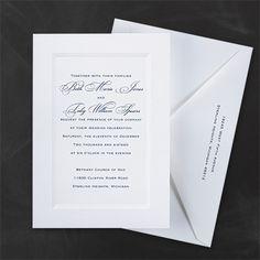 Paneled Invitation Pinterest Wedding Invitations Our Stuff Choices