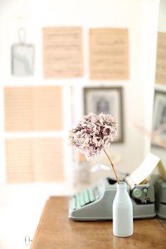 La machine à écrire pour un effet vintage chic