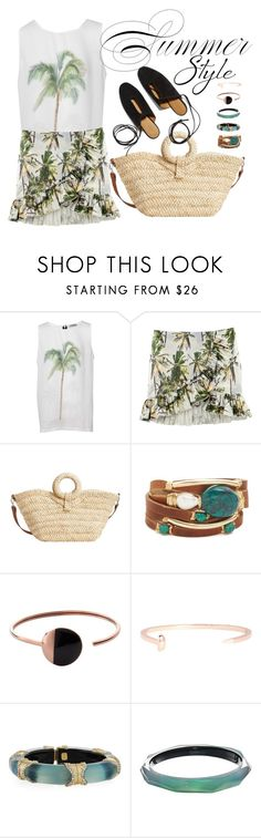 """..."" by vanny ❤ liked on Polyvore featuring Pull&Bear, H&M, MANGO, Rosetta Getty, Taylor and Tessier, Skagen, Giles & Brother and Alexis Bittar"