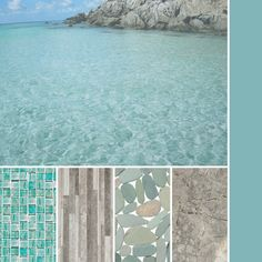 Cool laguna green and grey for a tropical inspired palette.