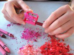 Crayon Shaving Hearts