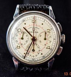 Catawiki, pagina di aste on line  Omega - Cronografo Vintage - Anni '40/50