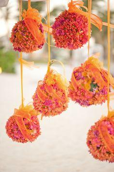 Punta Cana Hard Rock Hotel wedding flower balls
