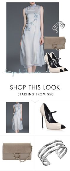 """""""dress"""" by masayuki4499 ❤ liked on Polyvore featuring Casadei, Chloé, Dower & Hall and Natural Life"""
