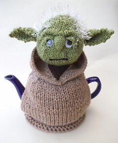Weird and wonderful knitted things - the Jedi Master Yoda tea cosy is adorable and really easy to make so you will be able to knit it up in no time at all without the need of the Force - simply download the pattern from LoveKnitting!